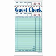 GUEST CHECK RECEIPT BOOKS each