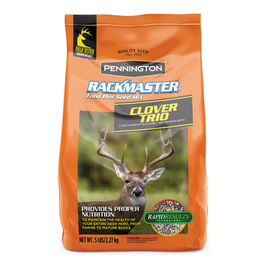 5LB RACKMASTER CLOVER TRIO FOOD PLOT SEED