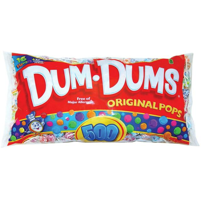 500 PK OF DUM DUM SUCKERS