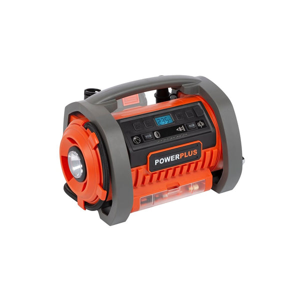 PowerPlus Dual Power akkus kompresszor alapgép 20V+220V POWDP7030 - maxtech.hu