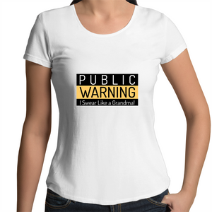 Warning: I Swear Like A Grandma - Womens Scoop Neck T-Shirt
