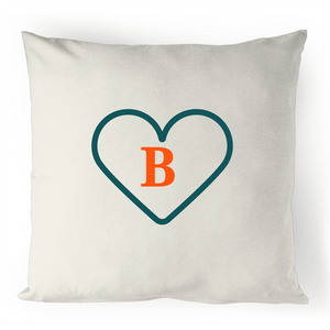 B - Alphabet - 100% Linen Cushion Cover