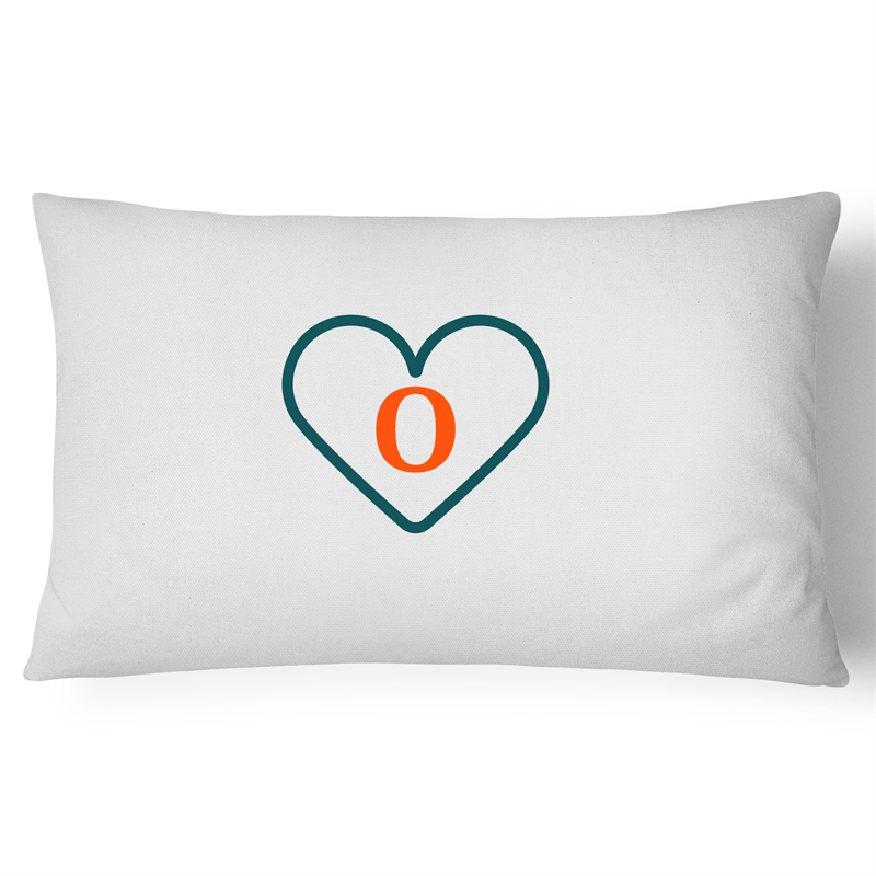 'O' - Live, Life, Love Pillow Case - 100% Cotton