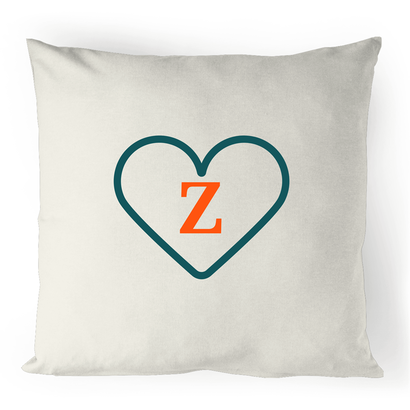 Z - Alphabet - 100% Linen Cushion Cover