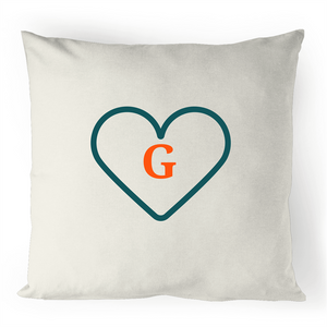 G - Alphabet - 100% Linen Cushion Cover