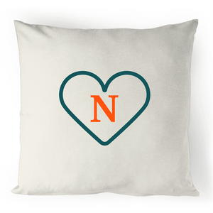 N - Alphabet - 100% Linen Cushion Cover