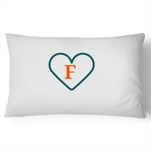 'F' - Live, Live, Love Pillow Case - 100% Cotton