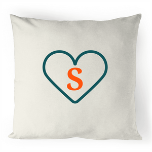 S - Alphabet - 100% Linen Cushion Cover