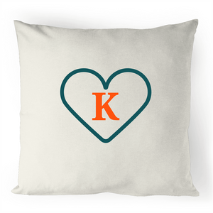 K - Alphabet - 100% Linen Cushion Cover