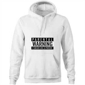 I Swear Like A Parent - AS Colour Stencil - Pocket Hoodie Sweatshirt