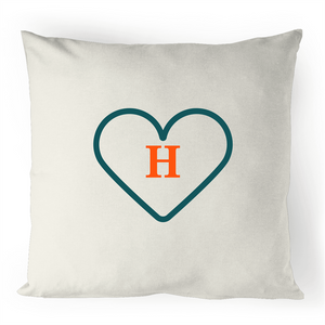 H - Alphabet - 100% Linen Cushion Cover