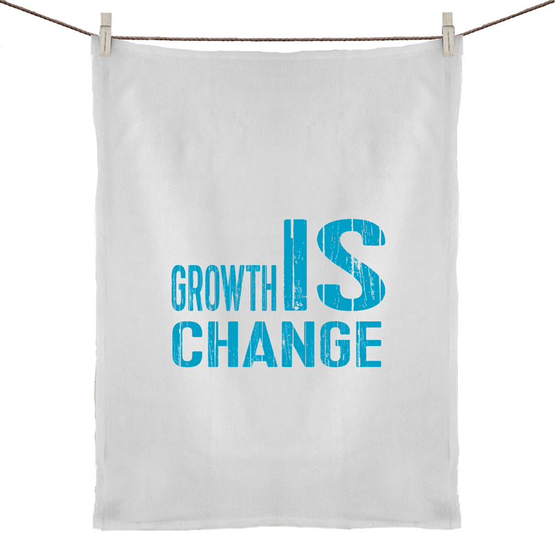 Growth IS Change - 50% Linen 50% Cotton Tea Towel