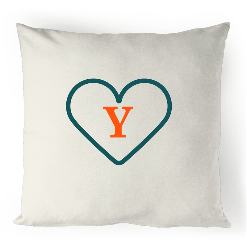Y - Alphabet - 100% Linen Cushion Cover