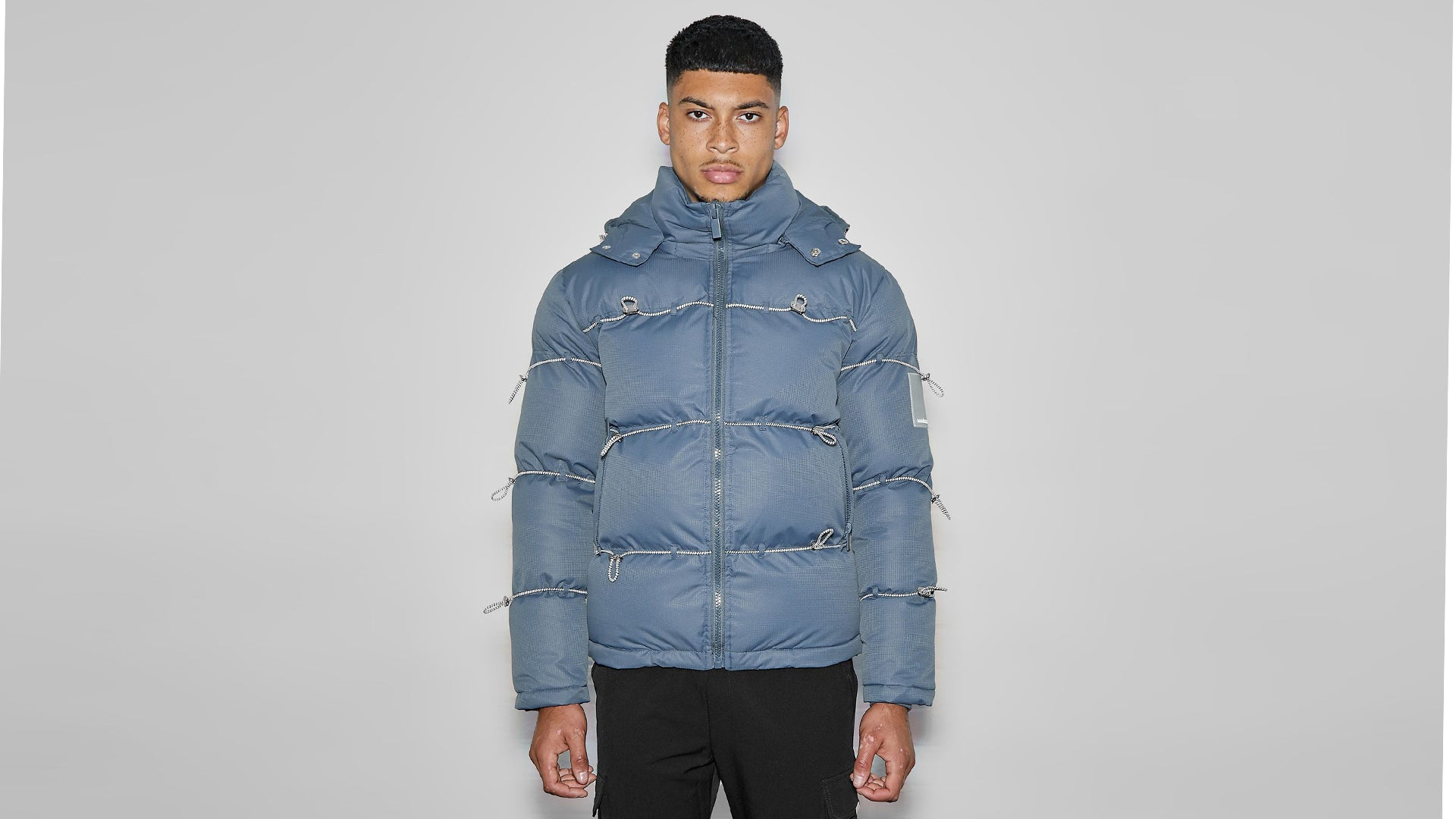 Bungee Cord Puffer Jacket