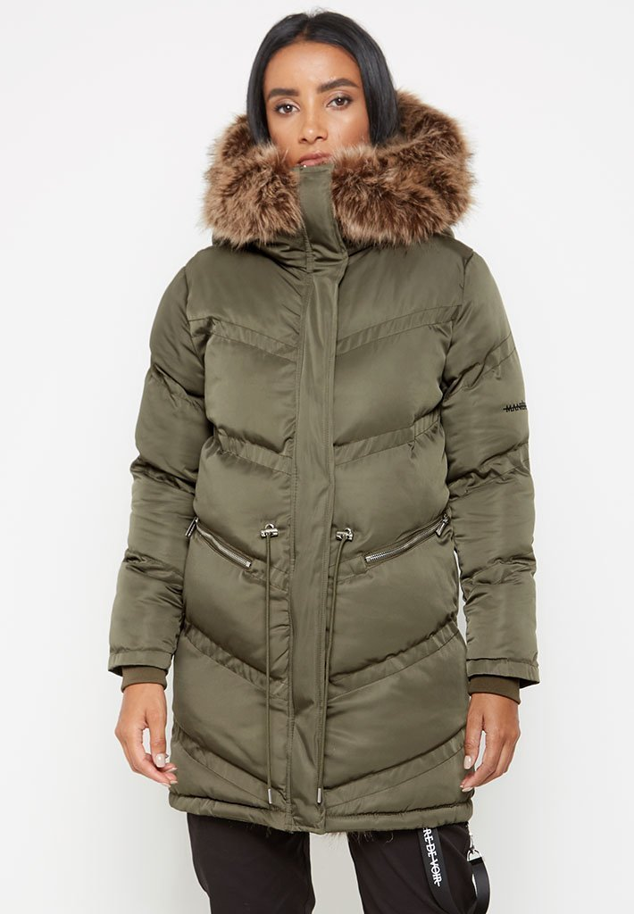 triomphe-fur-lined-coat-khaki
