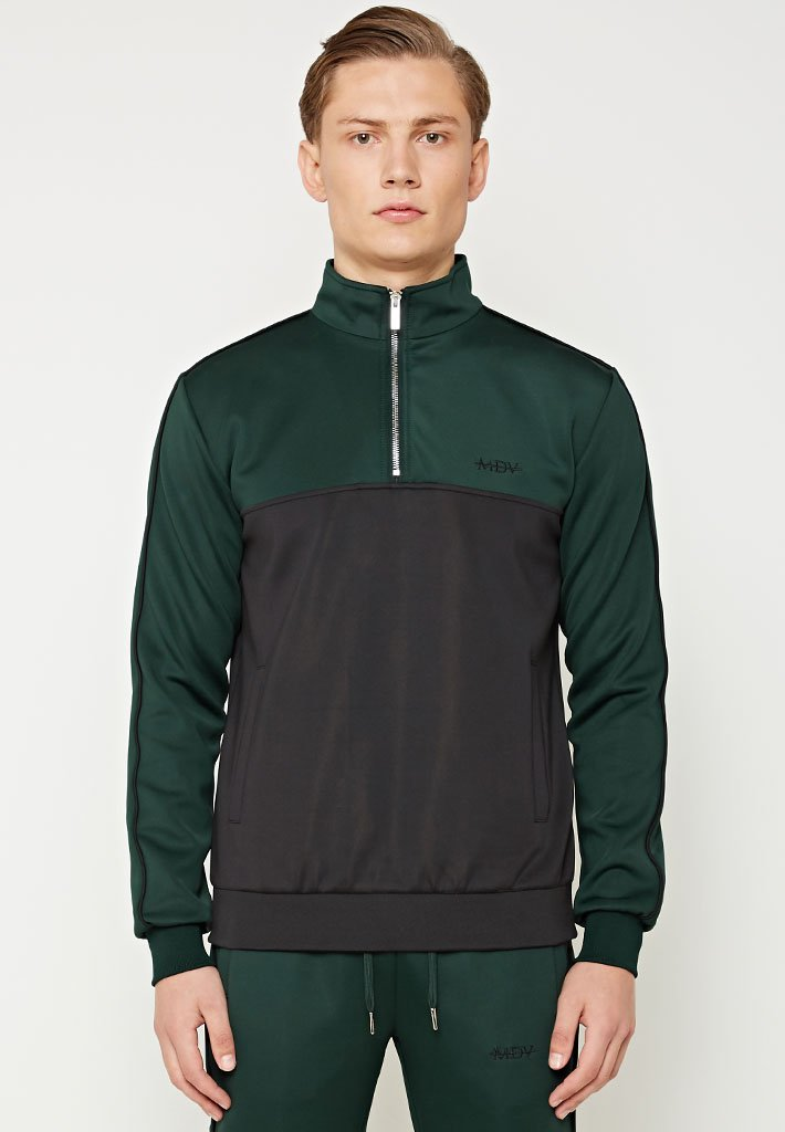 colour-block-1-4-zip-tracksuit-pullover-green-black