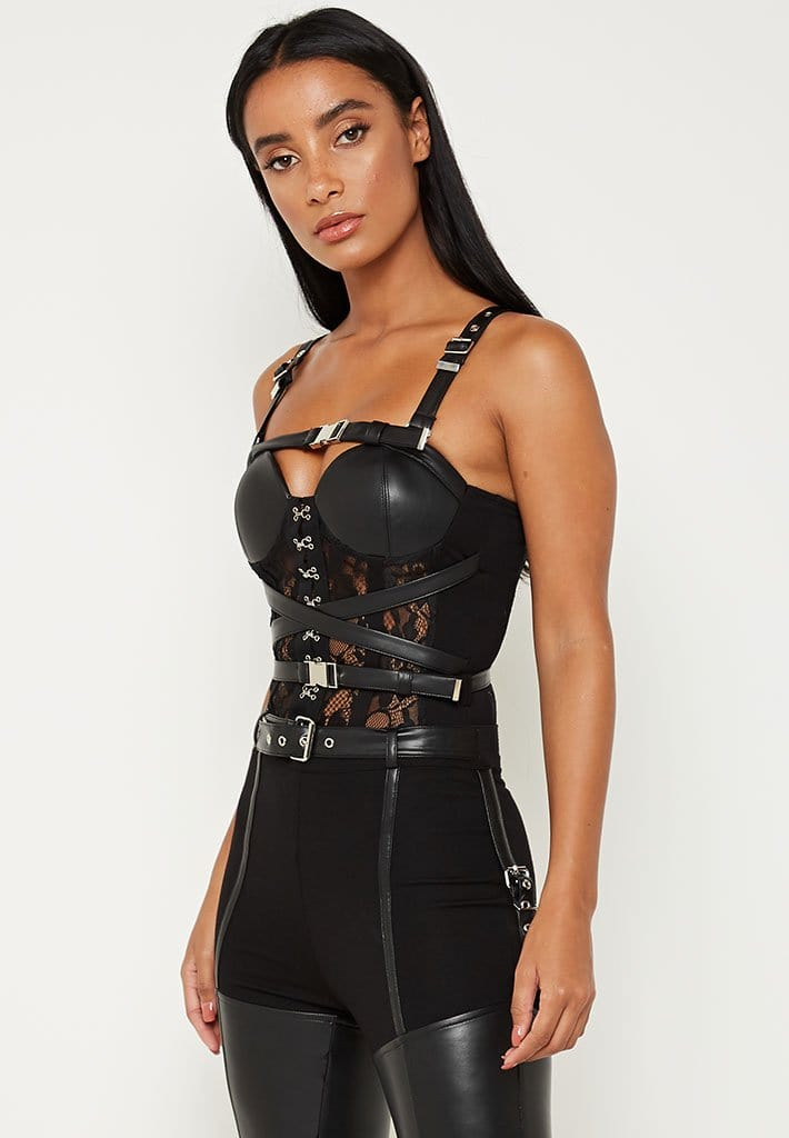 lace-and-vegan-leather-bustier-bodysuit-black