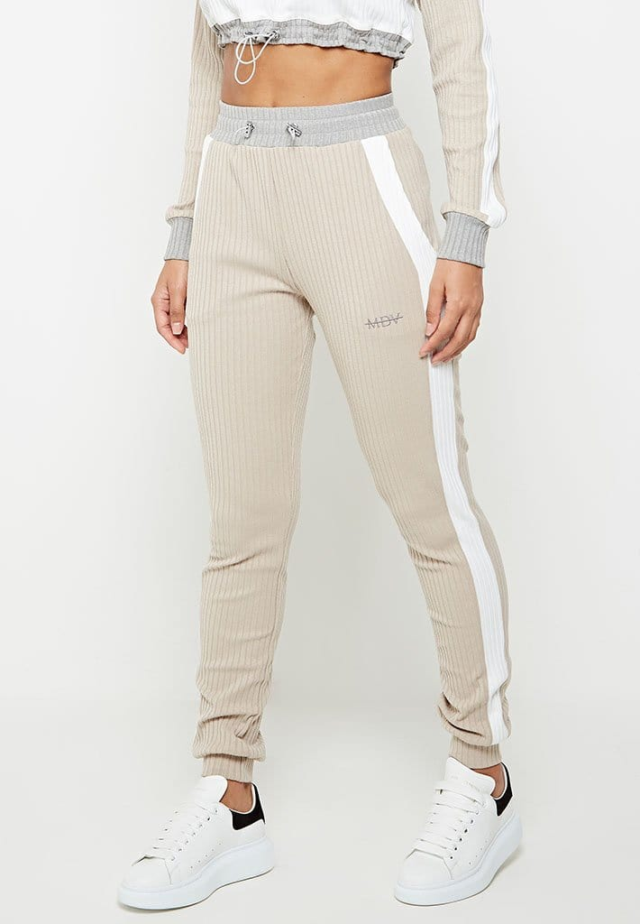 ribbed-track-joggers-beige-with-grey