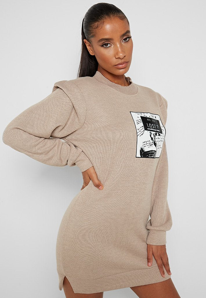 Are-You-Lost?-Jumper-Dress-Beige