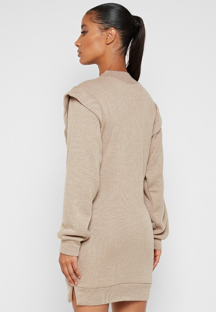 Are You Lost? Jumper Dress - Beige