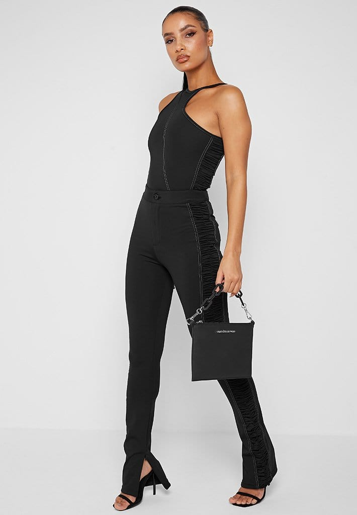 asymmetric-ruched-side-bodysuit-black