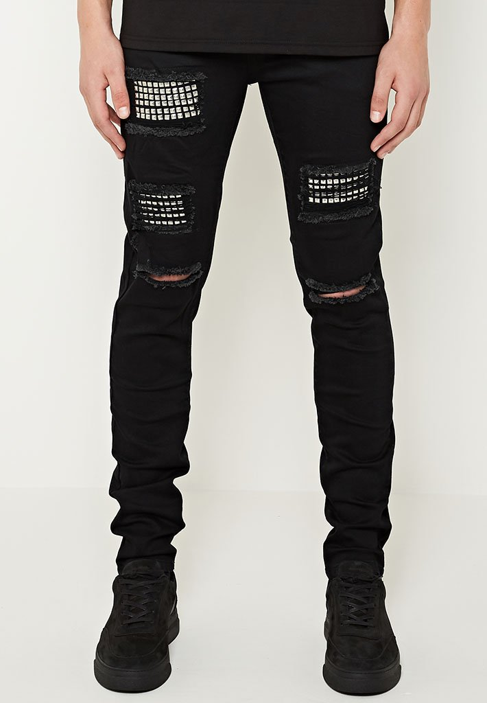 distressed-studded-jeans-black
