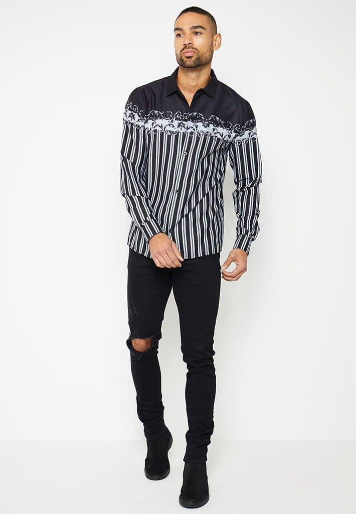 baroque-satin-striped-shirt-black