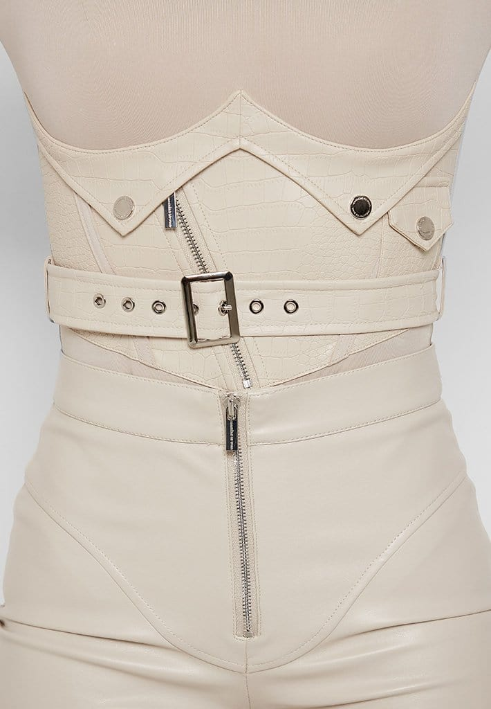 bodysuit-with-croc-vegan-leather-corset-beige
