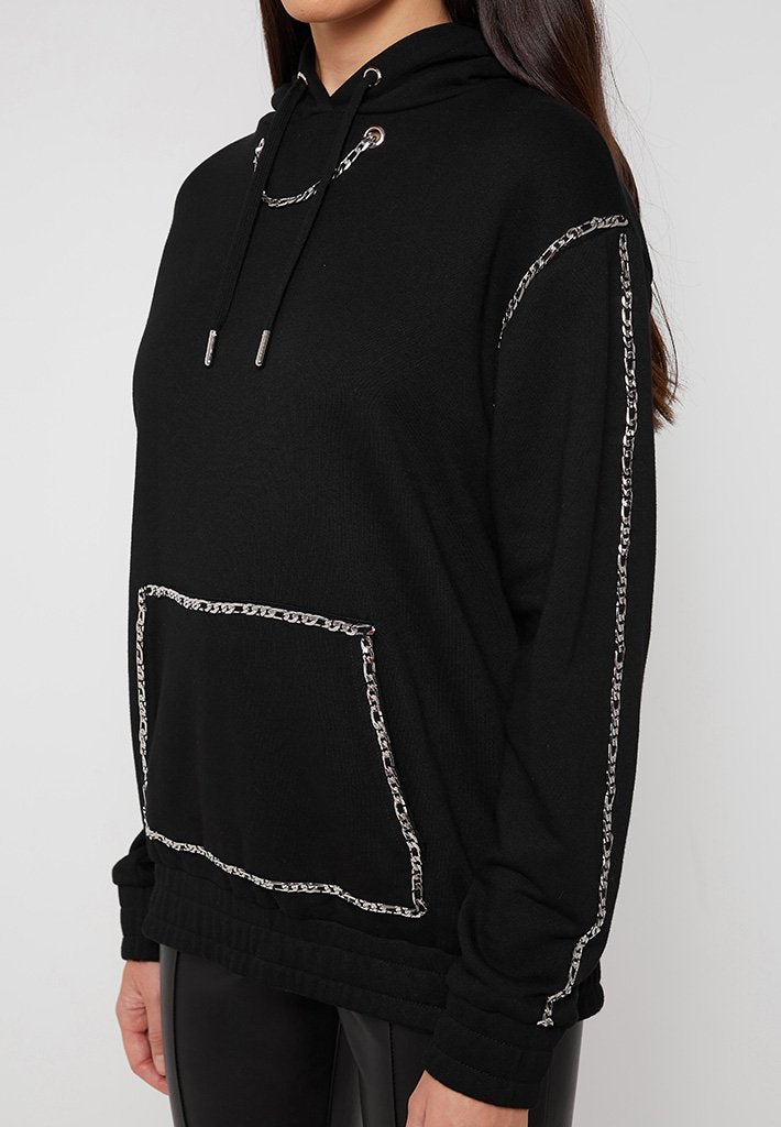 chain-detail-oversized-hoodie-black