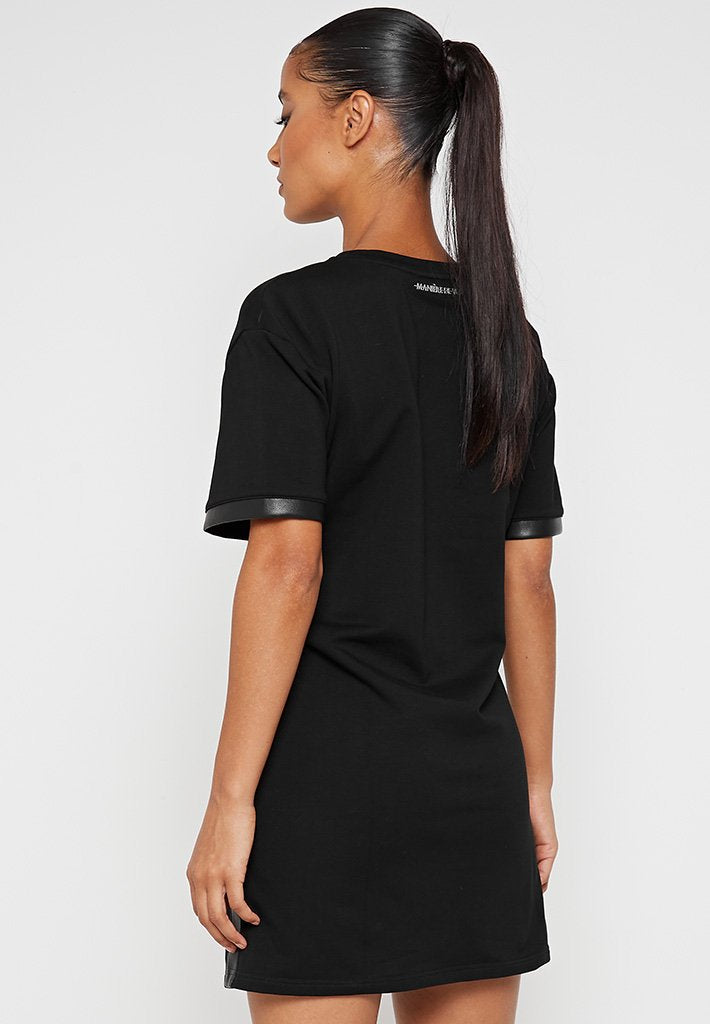 Chain-T-Shirt-Dress-Black