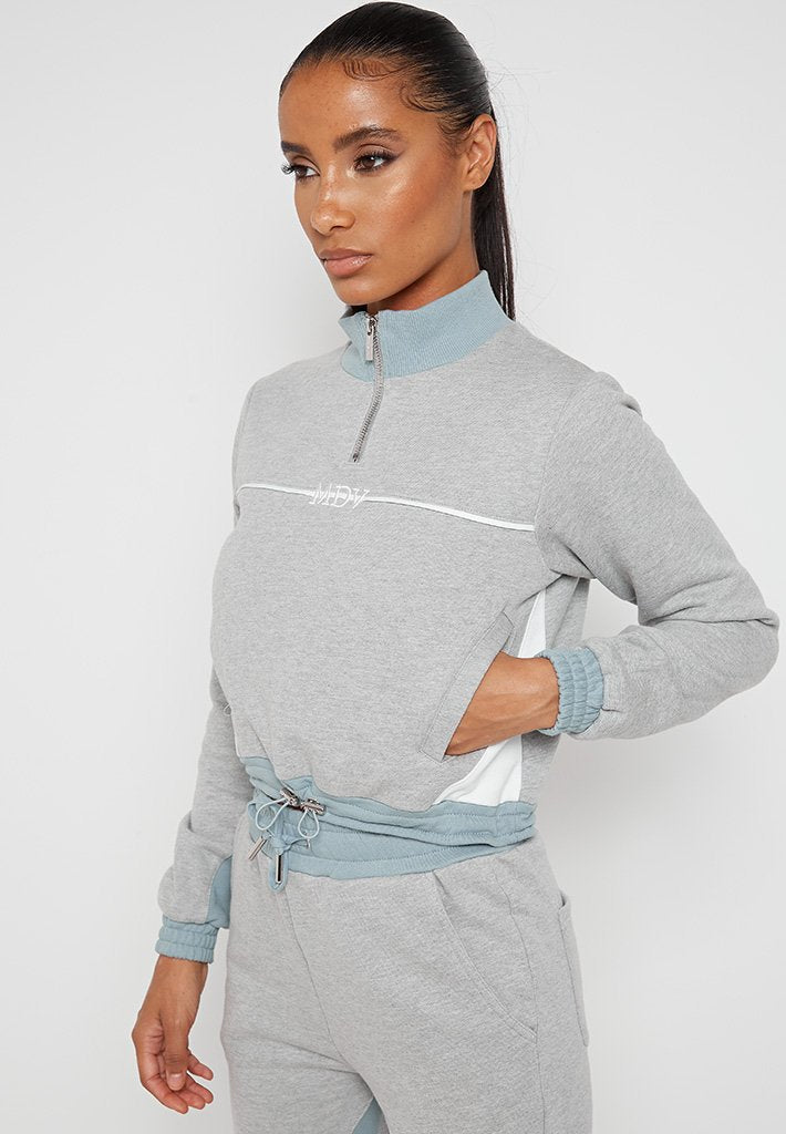 Colour Block Track Top - Blue