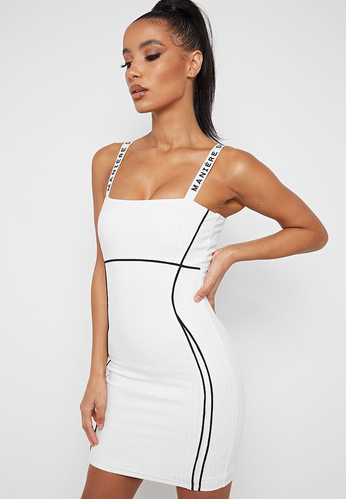 contrast-bodycon-mini-dress-white