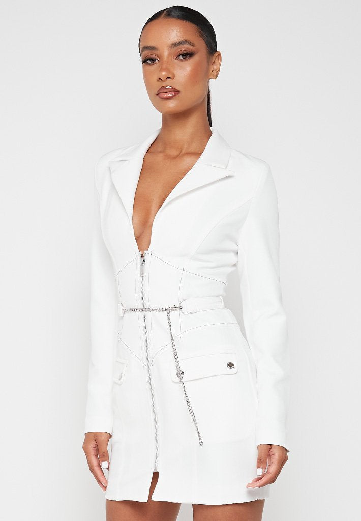 corset-blazer-dress-with-chain-white