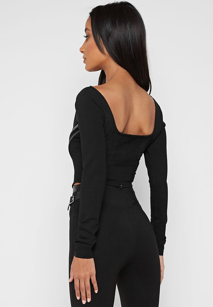 long-sleeve-corset-top-black