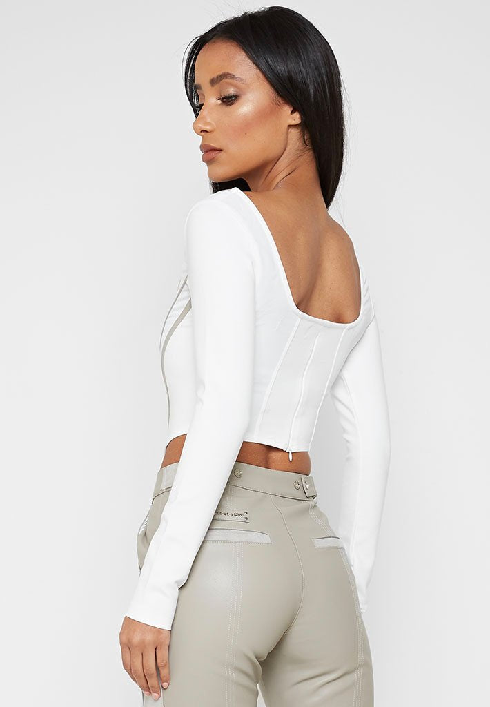 long-sleeve-corset-top-white