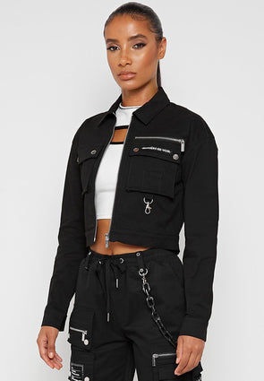 womens cropped coat