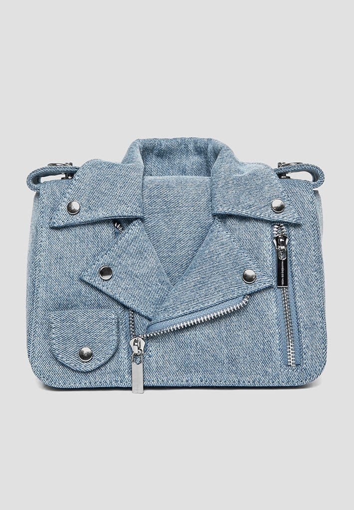 Denim Shirt Bag - Mid Blue