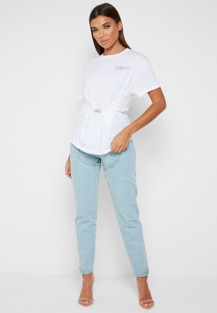 gathered-waist-t-shirt-white
