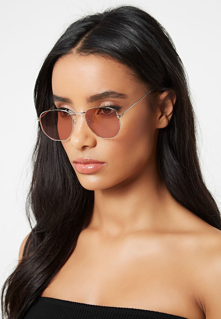 hexagonal-sunglasses-brown