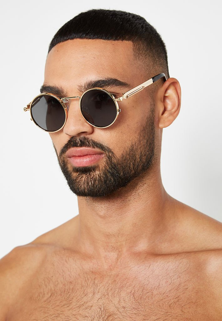 round-sunglasses-gold