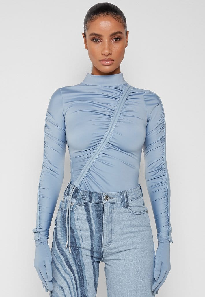 glove-bodysuit-with-ruching-blue