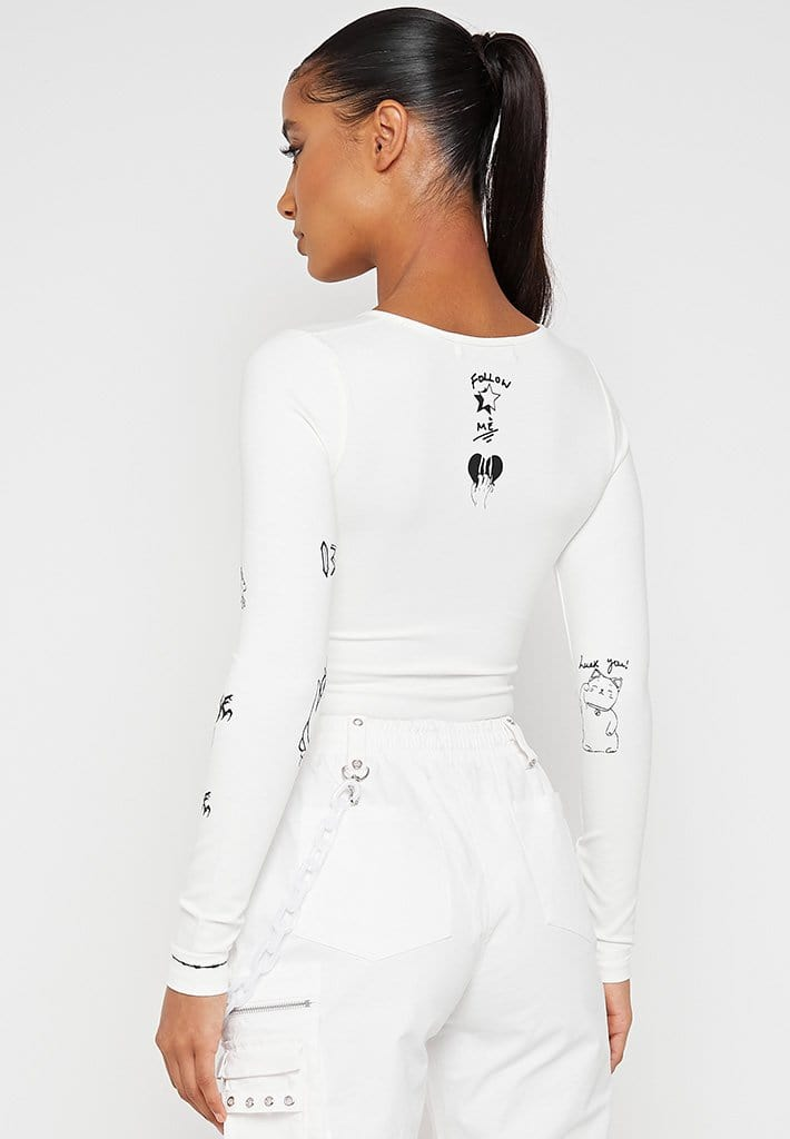 Graffiti Bodysuit - Off-White