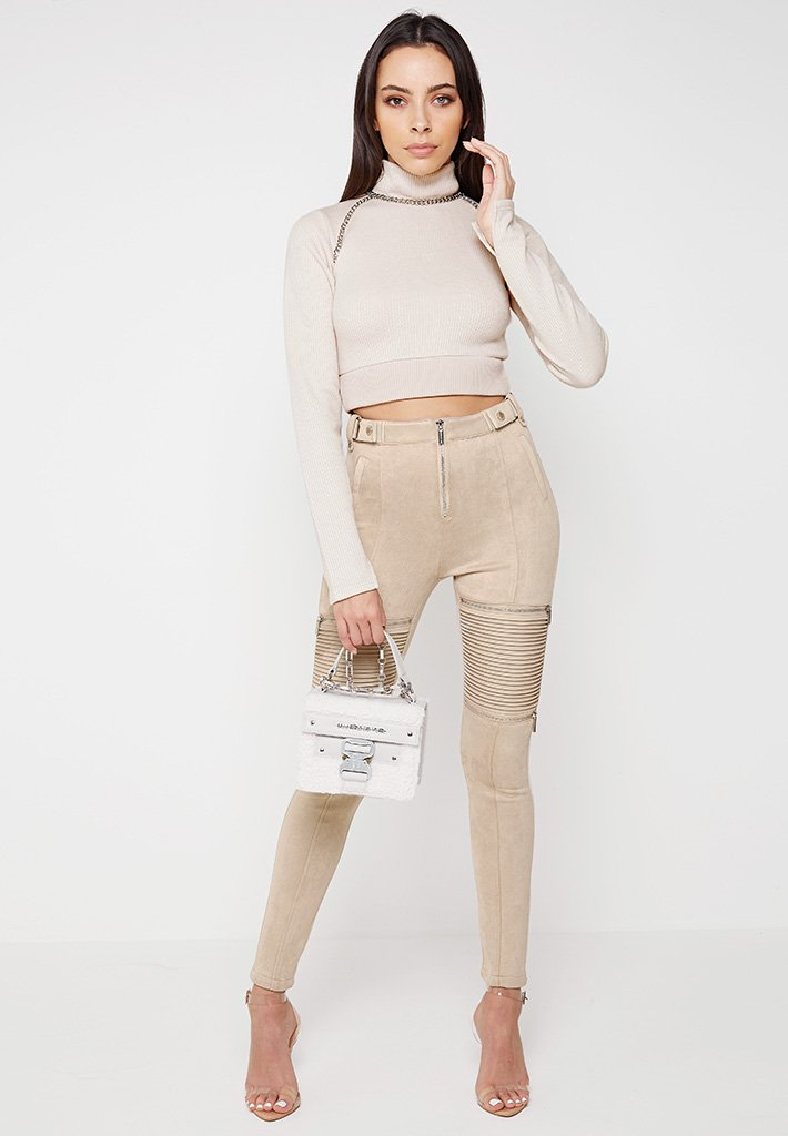 high-neck-cropped-jumper-with-chain-beige