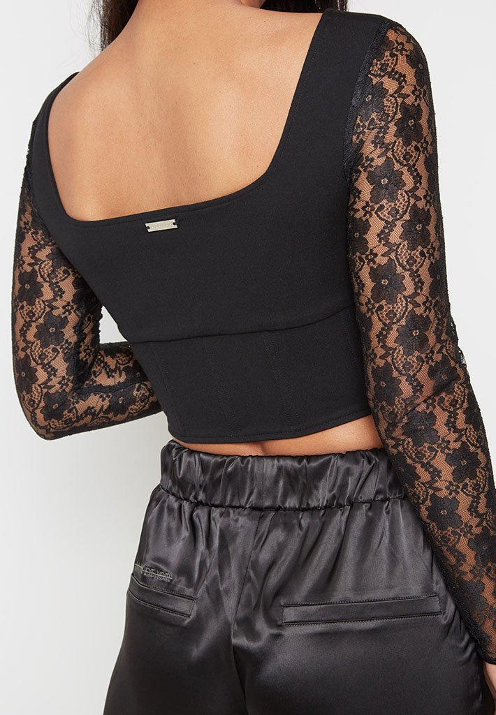 lace-sleeve-bustier-top-black