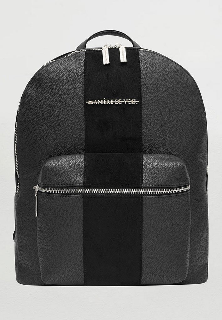 vegan-leather-backpack-with-suede-panel-black-1
