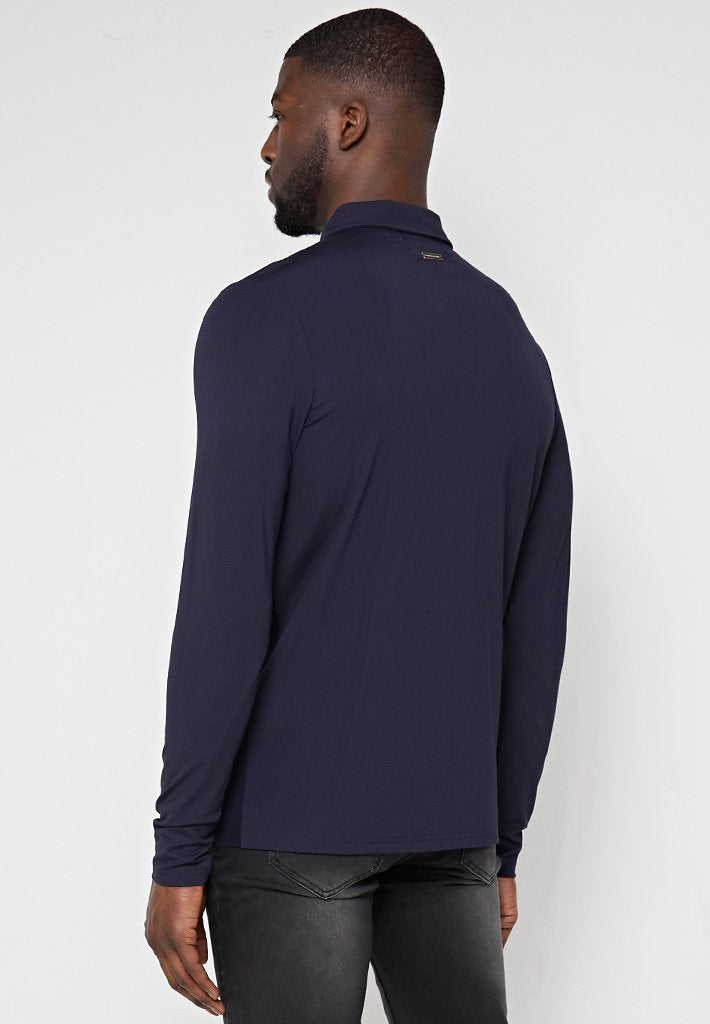 knit-mercerised-cotton-polo-top-navy
