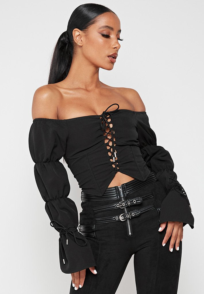 lace-up-puff-sleeve-top-black