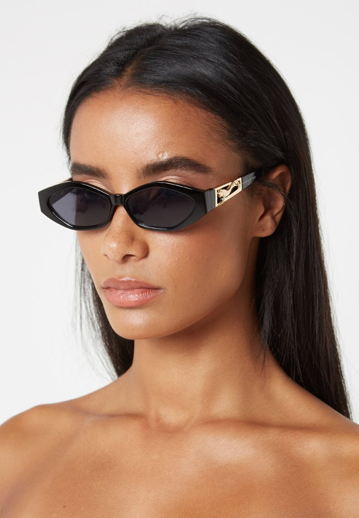 Gold Panther Sunglasses - Black