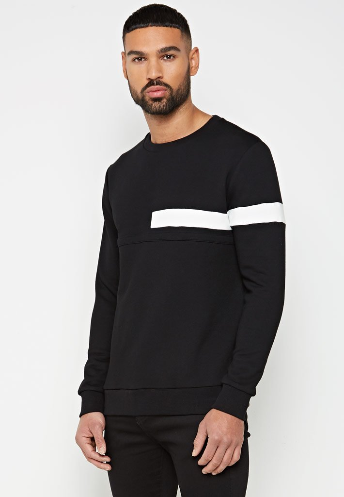 Neoprene Contrast Jumper - Grey/Black