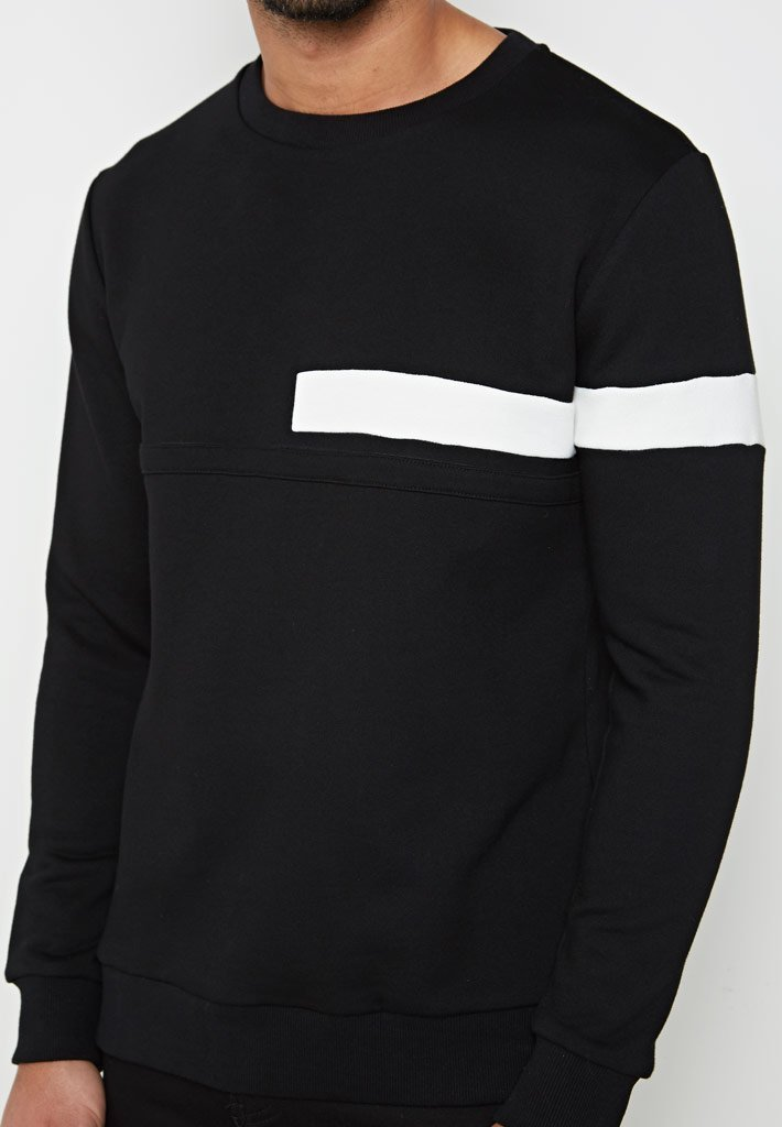 jumper-with-stripe-black